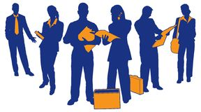 Business Team 4. Silhouettes and detail of business teams and professionals Royalty Free Stock Photography