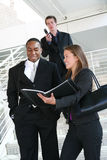 Business Team. A diverse business team walking down stairs Royalty Free Stock Photography