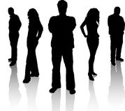 Business team. Silhouettes of a team of people Stock Photos