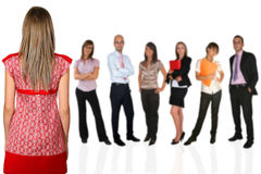 Business team. Young business team on white background Stock Images