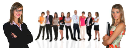 Business team. Young business team on white background Royalty Free Stock Photography