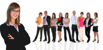 Business team. Young business team on white background Royalty Free Stock Image