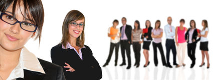 Business team. Young business team on white background Stock Photos