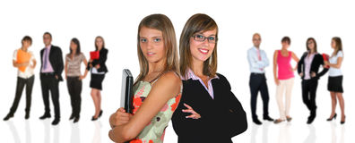 Business team. Young business team on white background Royalty Free Stock Images
