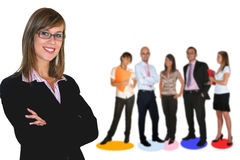 Business team. Young business team on white background Stock Photo