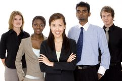Business Team. Five people make up a diverse business team Stock Photos