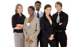Business Team. A diverse and young business team Royalty Free Stock Photo