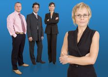 Business team. Group of businesspeople standing Stock Photography