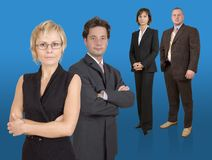 Business team. Group of businesspeople standing Royalty Free Stock Photography