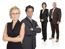 Business team. Group of businesspeople standing Stock Photo