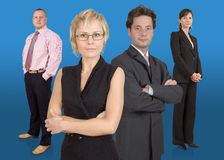 Business team. Group of businesspeople standing Royalty Free Stock Image