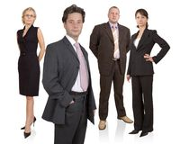 Business team. Group of businesspeople standing Stock Image