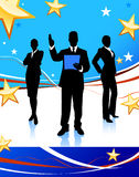 Business Team on Abstract United States Background Royalty Free Stock Photo