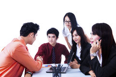 Business team agreement meeting - isolated Stock Photos