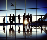 Business Team Airport Journey Travel Concept Royalty Free Stock Photos