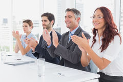 Business team all applauding Royalty Free Stock Images
