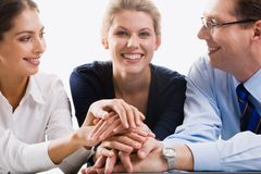 Business team. All for one! Royalty Free Stock Photos