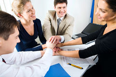 Business team. All for one! Stock Photography