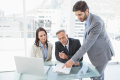 Business team all working together Stock Photos