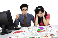 Business team analyzing business report Stock Photography