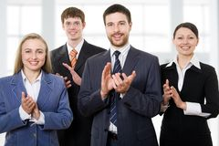 Business team applauding Royalty Free Stock Photo