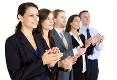 Business Team Applauding Stock Images