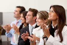 Business team applauding Royalty Free Stock Images