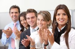 Business team applauding Stock Photos