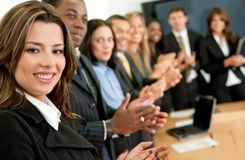 Business team applauding Royalty Free Stock Photography