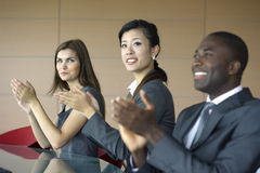 Business team applauding Royalty Free Stock Photos