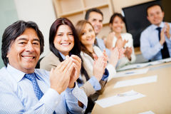 Business team applauding Stock Photography
