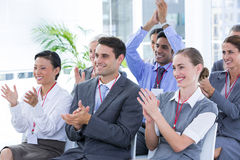 Business team applauding during conference. In the office Royalty Free Stock Images