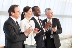 Business team applauding Stock Photo