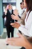 Business team applauding Stock Image