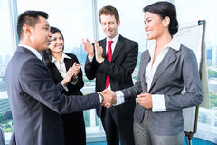 Business team applause. In meeting royalty free stock photos