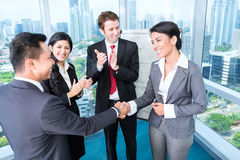 Business team applause. In meeting stock photos