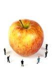 Business team with a apple Royalty Free Stock Photo