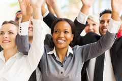 Business team arms up Royalty Free Stock Photography