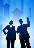 Business Team on Arrows Background Royalty Free Stock Images