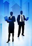 Business Team on Arrows Background Stock Images