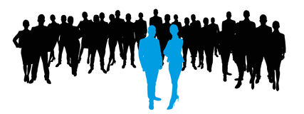 Business team as Silhouette Royalty Free Stock Photo