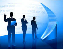 Business team background with corporate ladder Royalty Free Stock Images