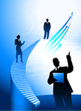 Business team background with corporate ladder. Original  illustration Stock Images