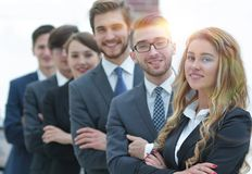 Business team in the background of the office. royalty free stock image