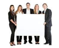 Business team with a banner Stock Image