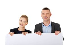 Business team with a banner Stock Photo