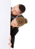 Business team with a banner Stock Photography