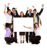 Business team - banner ad Stock Photos