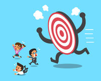 Business team and big target Royalty Free Stock Photo