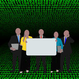 Business team with binary Royalty Free Stock Photos